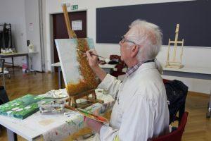 Günter Nicolussi Rossi an der Arbeit