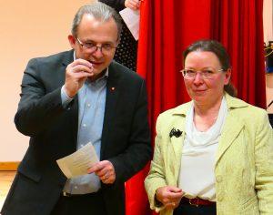 Direktor Dwulit und Astrid Esterlus